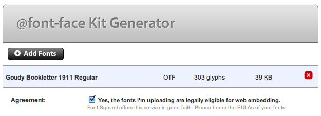 Font Squirrel Generator