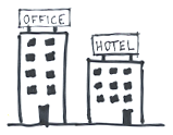 Sketch of an office