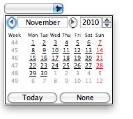 Opera's HTML date picker