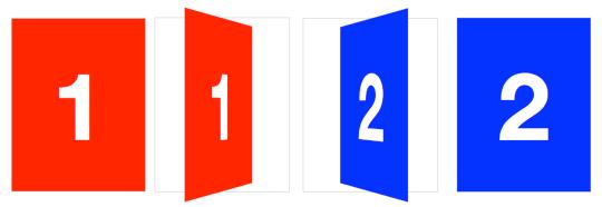 3D card flip transition