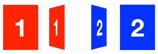 3D card slide-flip transition
