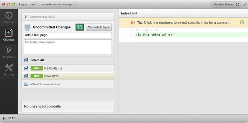 commiter quelques modifs avec l'app GitHub Desktop