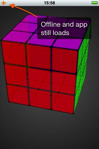 Offline Rubik's cube