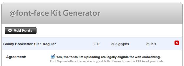 Font Squirrel Generator