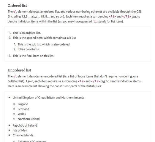 Screenshot of Paul Lloyd's style guide