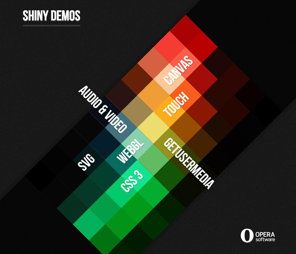 screenshot of Opera's Shiny Demos website