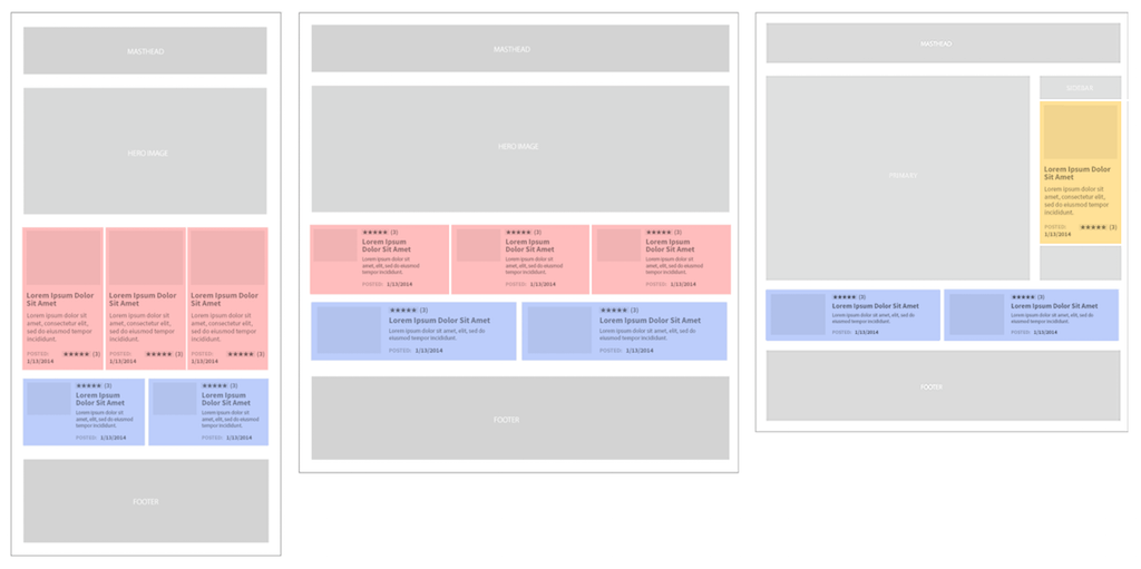 Wireframe of a complex site layout