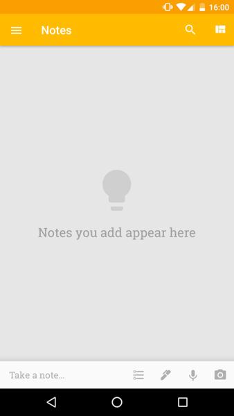 Screenshot fo Googles navigation pattern