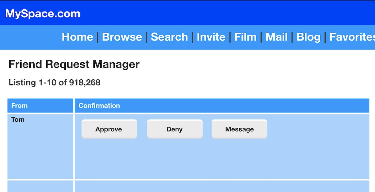 Samy's MySpace page